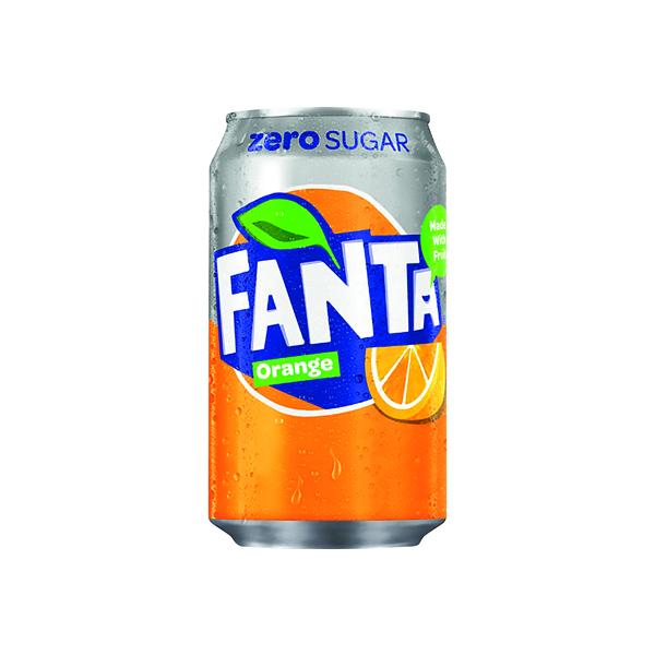 Fanta Orange Zero Cans 330ml (Pack of 24) 100231