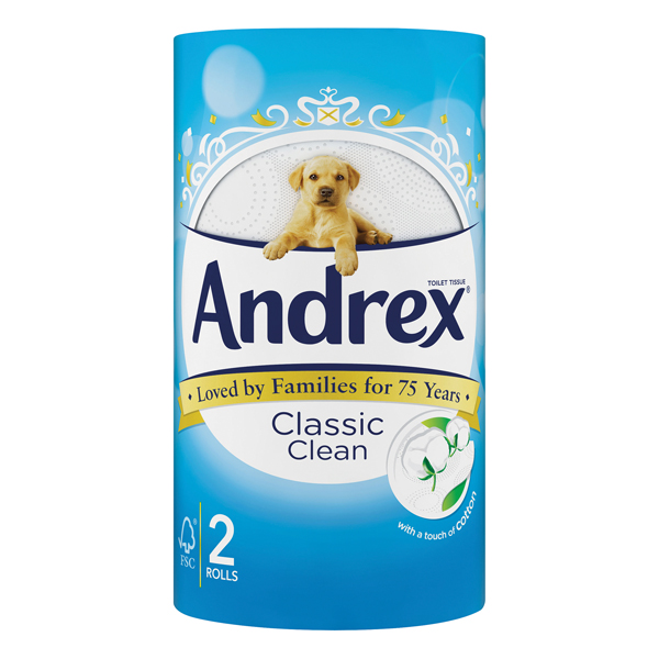 Andrex Classic Clean Toilet Roll (Pack of 24) 75806