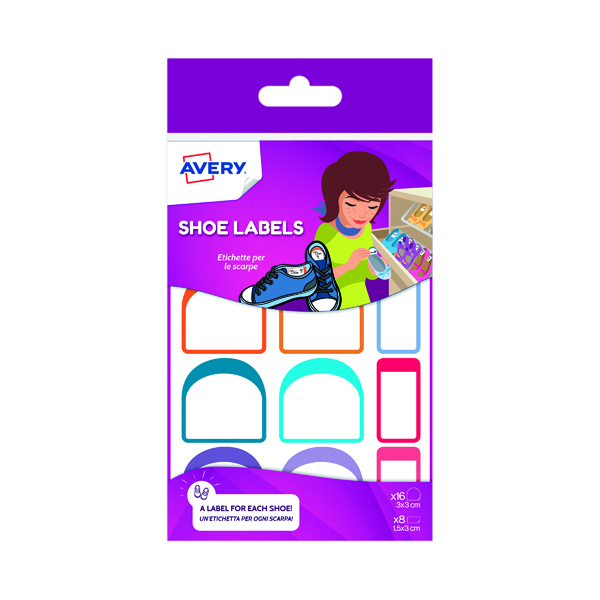 Avery Adhesive Shoe Labels (Pack of 24) CHAUS12.UK