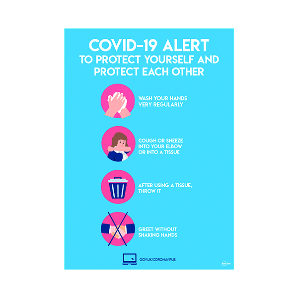 Avery Virus Prevention Label 420x297mm A3 (Pack of 2) COVVPA3