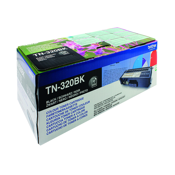 Brother TN320BK Black Laser Toner Cartridge TN-320BK