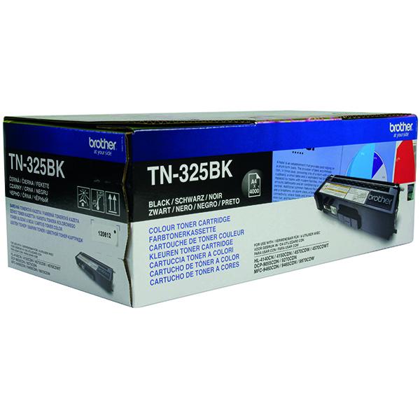 Brother TN325BK Black Toner Cartridge High Capacity TN-325BK