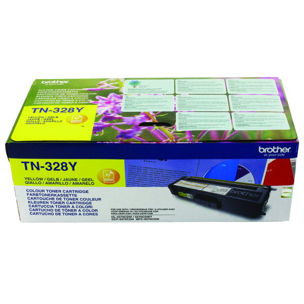 Brother Yellow Super High Yield Laser Toner TN328Y