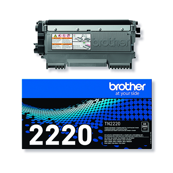 Brother High Yield Black Toner Cartridge 2.6K FAX-2940 TN2220
