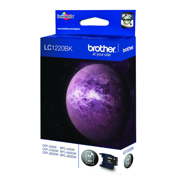 Brother LC1220BK Black Inkjet Cartridge (300 page capacity) LC-1220BK
