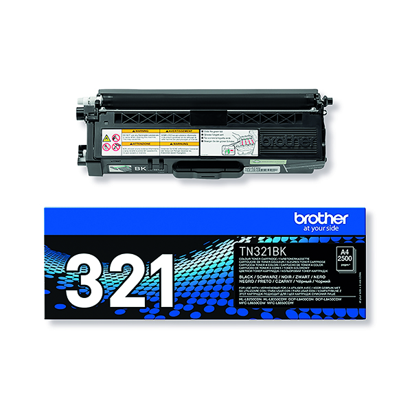 Brother TN321BK Black Laser Toner Cartridge TN-321BK