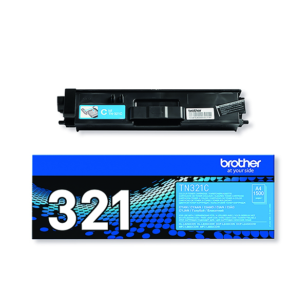 Brother TN321C Cyan Laser Toner Cartridge (2500 page capacity) TN-321C