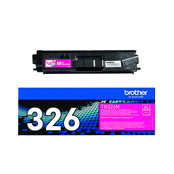 Brother Magenta Toner Cartridge High Capacity TN-326M
