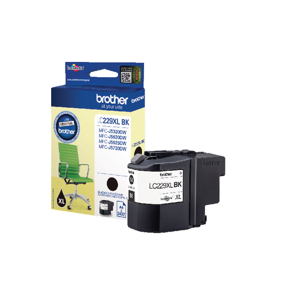 Brother LC229XLBK High Yield Black Inkjet Cartridge LC-229XLBK