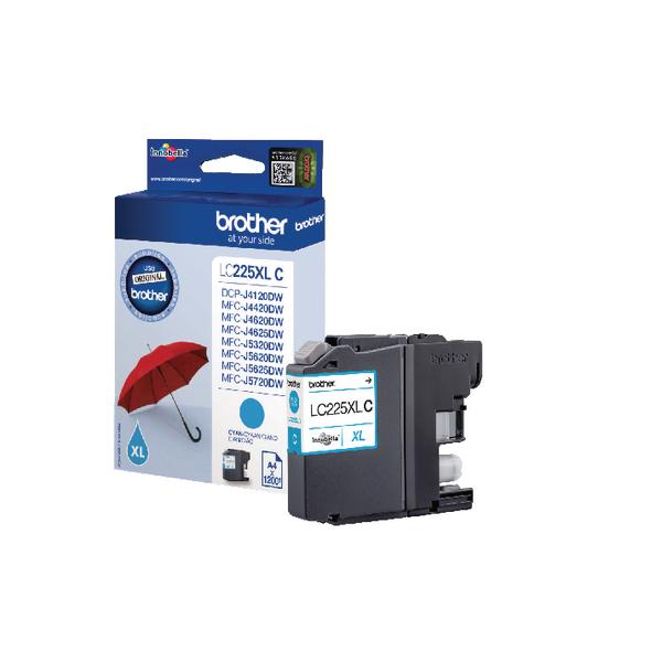 Brother LC225XLC High Yield Cyan Inkjet Cartridge LC-225XLC
