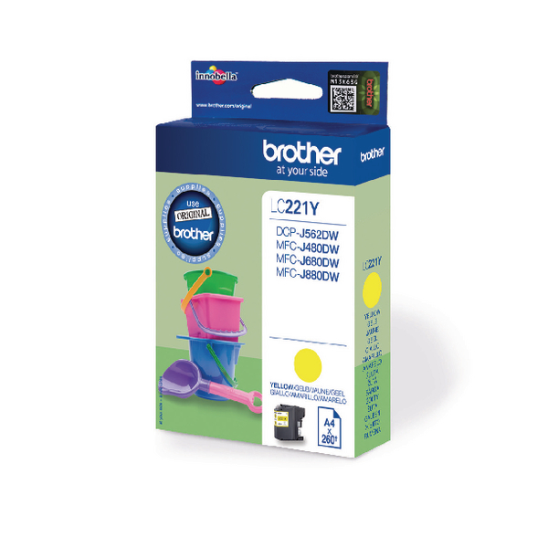 Brother Standard Yield Yellow Ink Cartridge LC221Y