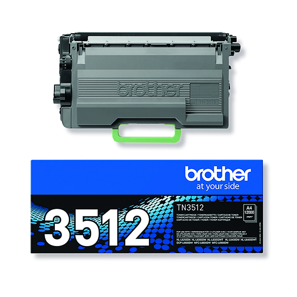Brother Black super yield Toner TN3512 Page yield 12000