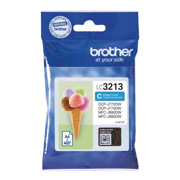 Brother Ink Cartridge High Yield Cyan LC3213C