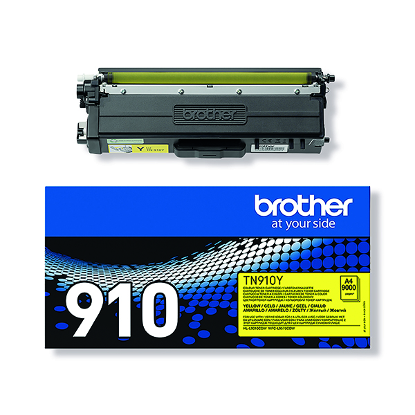 Brother TN910Y Ultra High Yield Yellow Toner Cartridge TN910Y
