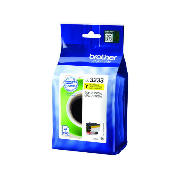 Brother Yellow High Yield Ink Cartridge LC3233Y