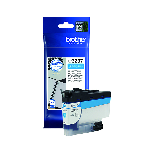 Brother LC-3237 Cyan Ink Cartridge LC3237C