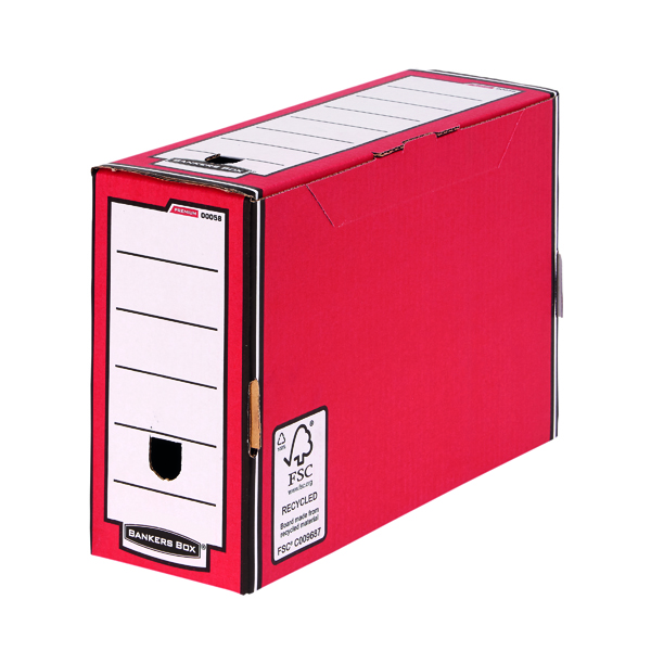 Fellowes Bankers Box Premium Transfer File Red/White (Pack of 10) 0005802