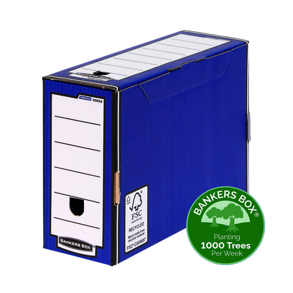 Fellowes Bankers Box Premium Transfer File Blue /White 00059-FF