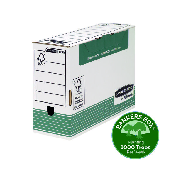 Fellowes Bankers Box Transfer File 120mm FC Green (Pack of 10) 1179201