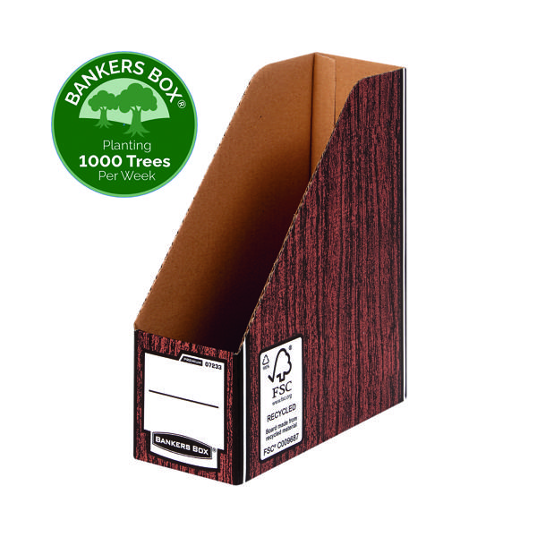 Bankers Box Premium Magazine File-Woodgrain (Pack of 5) 723303