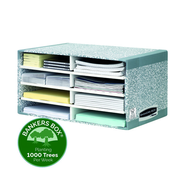 Bankers Box System Desktop Sorter Grey (Pack of 5) 08750