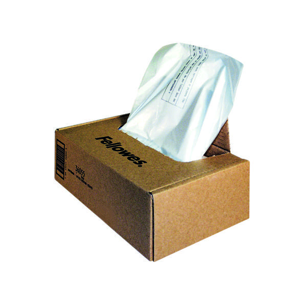 Fellowes Shredder Wastebags 100-165L Approx (50 Pack) 36055