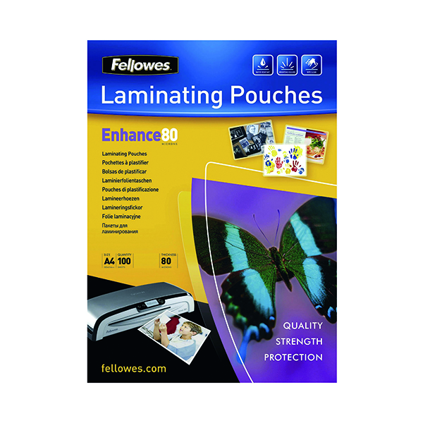 Image for Fellowes A4 Enhance Laminating Pouch Matte (Pack of 100) 5452101