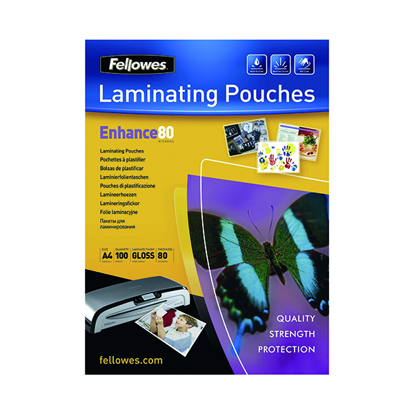 Fellowes A4 Self Adhesive Enhance Laminating Pouches(Pack of 100)53022