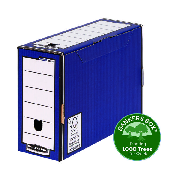 Bankers Box Premium 127mm Transfer File Blue (Pack of 5) 5905
