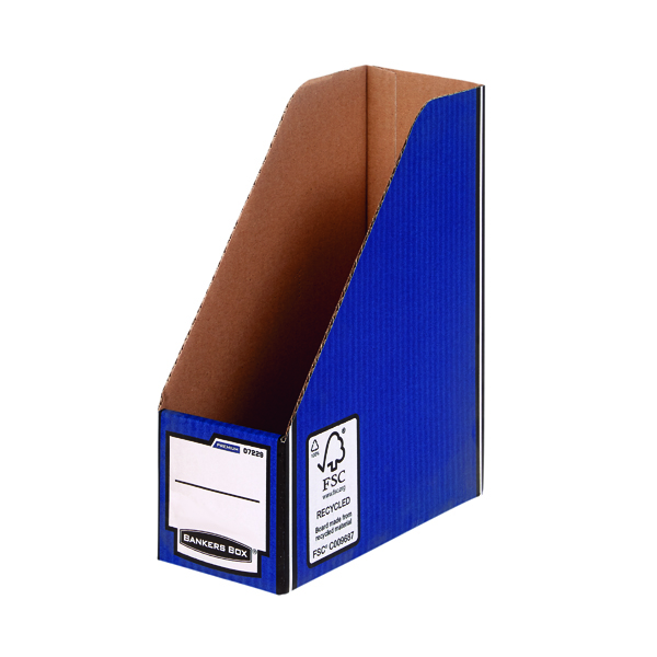 Fellowes Blue /White Bankers Box Premium Magazine File (Pack of 10) 0722904
