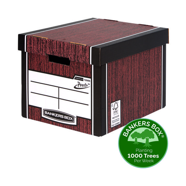 Bankers Box Premium Tall Box Woodgrain (Pack of 5) 7260520