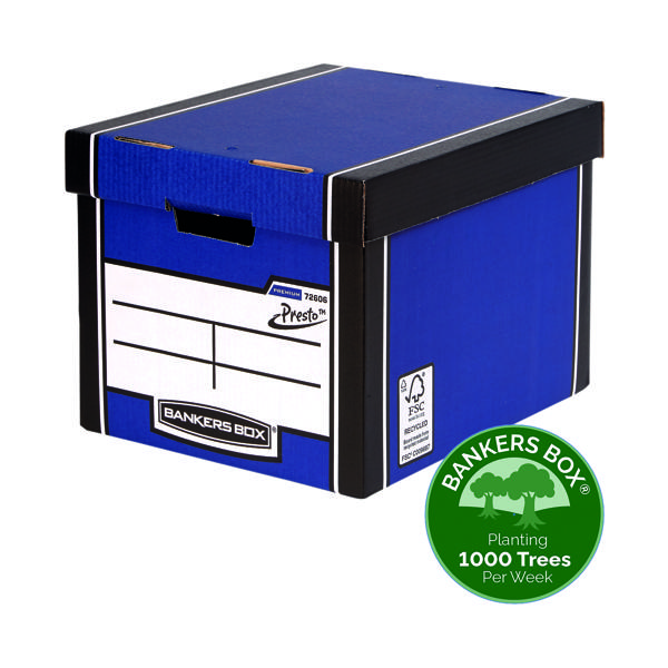 Bankers Box Premium Tall Box Blue (Pack of 5) 7260618