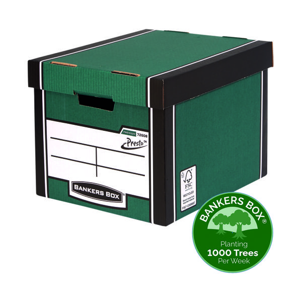 Bankers Box Premium Tall Box Green (Pack of 5) 7260806