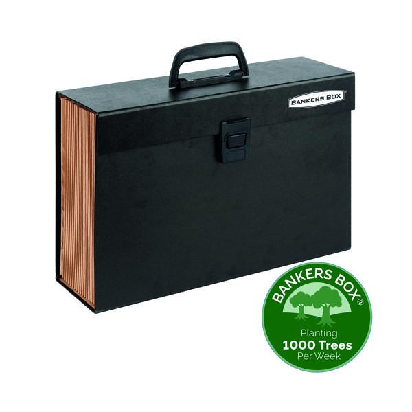 Fellowes Bankers Box Expanding Handifile Black 9351501