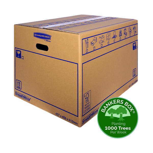 Image for Bankers Box SmoothMove Standard Moving Box 460x410x610mm (Pack of 10) 6207501
