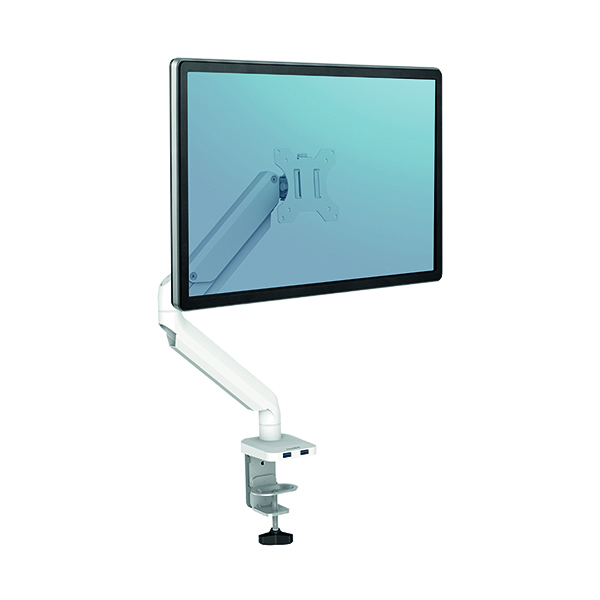 Fellowes Platinum Series Single Monitor Arm White 8056201