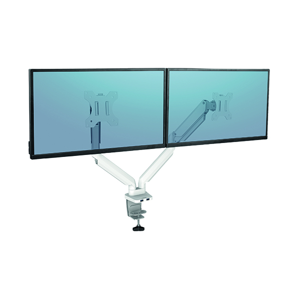 Fellowes Platinum Series Dual Monitor Arm White 8056301