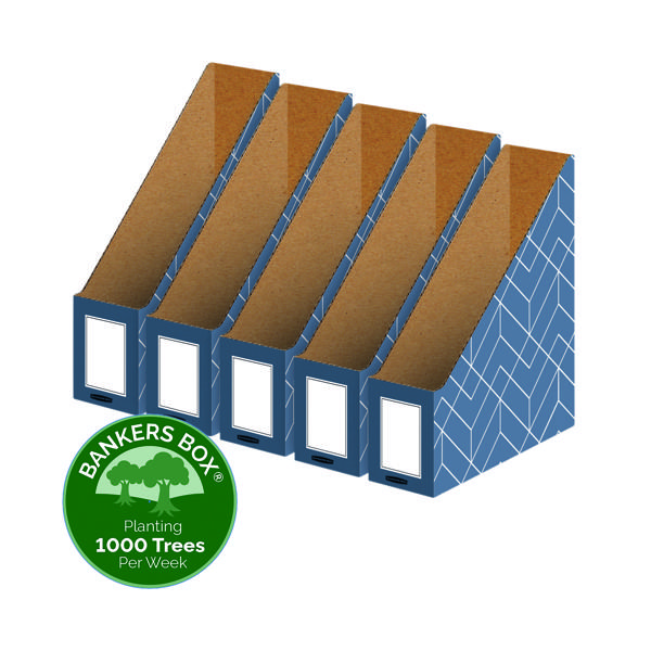 Bankers Box Decor Magazine File Blue (Pack of 5) 4484001