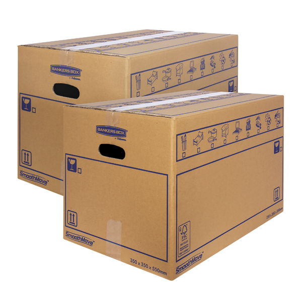 Bankers Box SmoothMove Standard Moving Box 350x350x550mm (Pack of 10) BOGOF