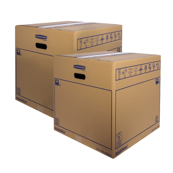 Bankers Box SmoothMove Std Moving Box 446x446x446mm (Pack of 10) BOGOF