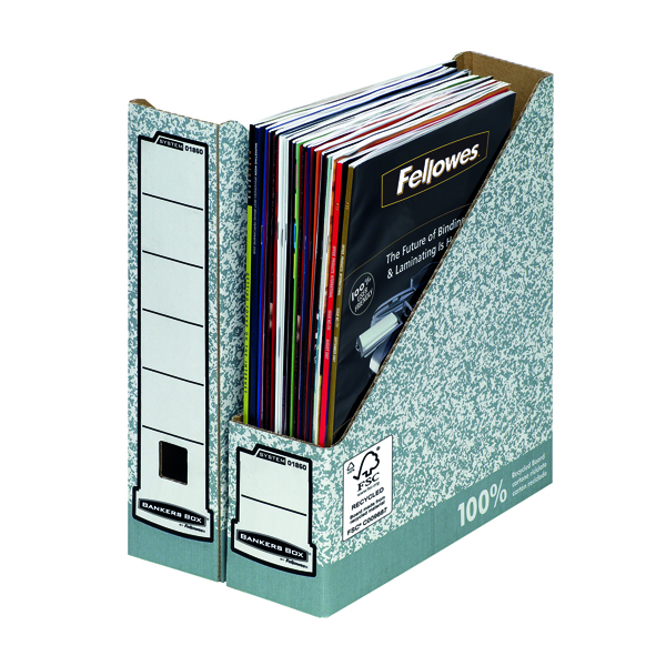 Fellowes Bankers Box Magazine File Grey (Pack of 10) BOGOF
