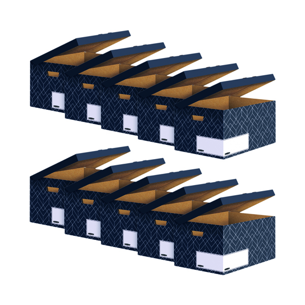 Bankers Box Flip Top Box Grey (Pack of 5) Buy 1 Get 1 Free 4483601