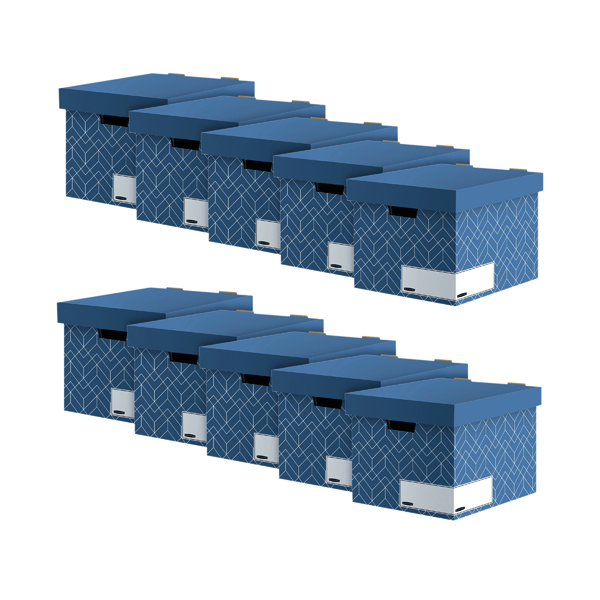 Bankers Box Storage Box Blue (Pack of 5) Buy 1 Get 1 Free 4483701
