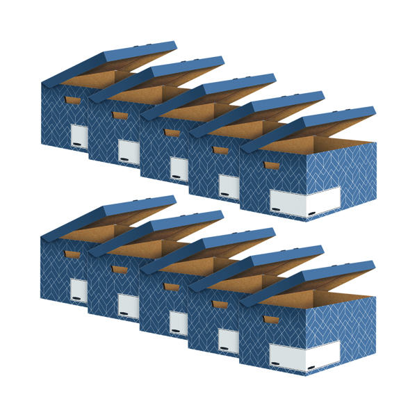 Bankers Box Flip Top Box Blue (Pack of 5) Buy 1 Get 1 Free 4484101