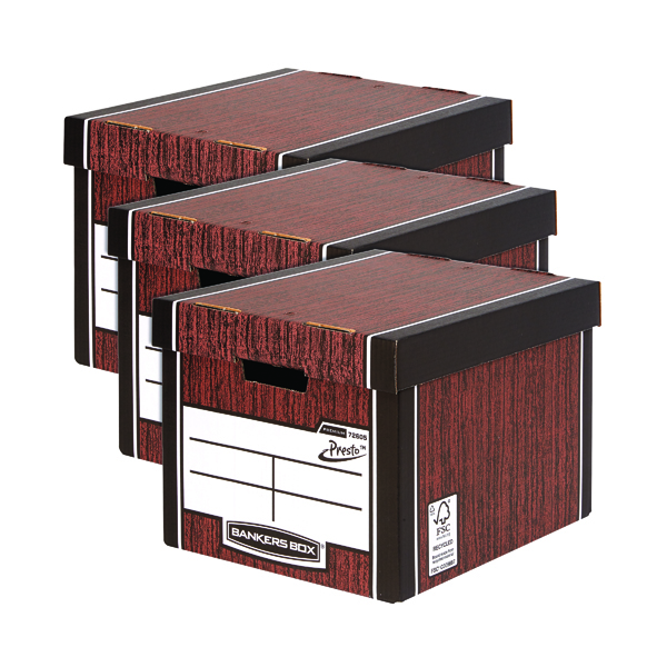 Bankers Box Tall Box Woodgrain 3 For 2