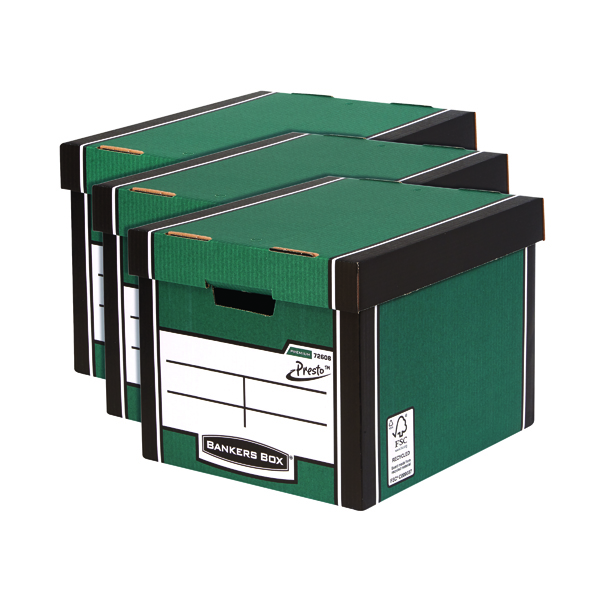 Bankers Box Premium Tall Box Green 3 For 2