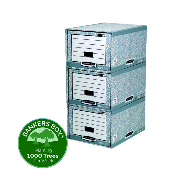 Fellowes Bankers Box System Storage Drawer Gry/White (Pack of 5) 01820