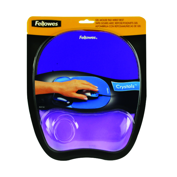 Fellowes Crystals Gel Mouse Pad Purple 9144103