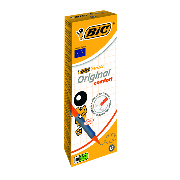Bic Matic Original Comfort Mechanical Pencil 0.7mm (Pack of 12) 890284