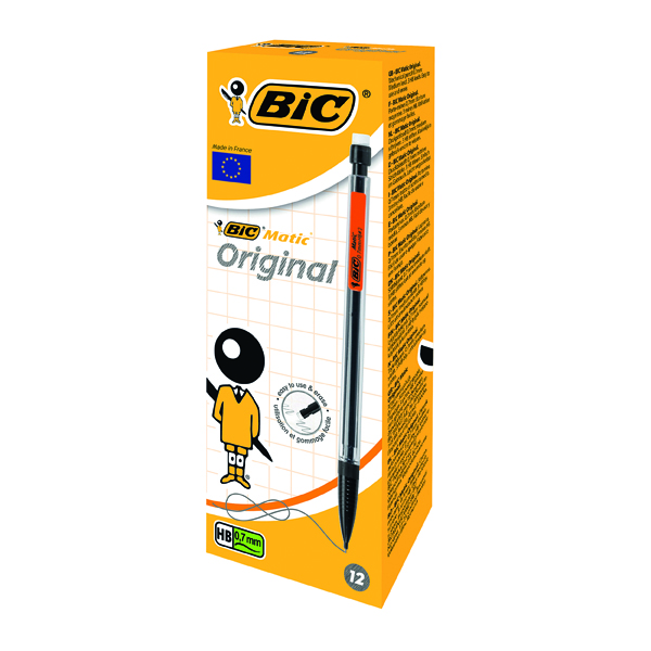Bic Matic Original Mechanical Pencil Medium 0.7mm (Pack of 12) 820959